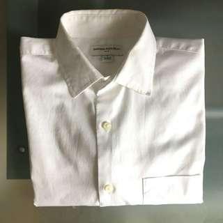 Banana Republic White Solid Shirt (Size Small)