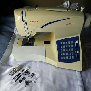 Singer Futura CE-100 Sewing And Embroidery Machine With Accessories
