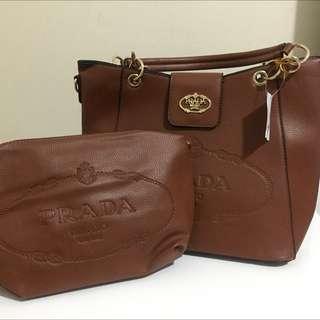 PRADA Handbag With Cosmetic Pouch