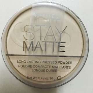 Rimmel Stay Matte Pressed Powder, Transparent 49 oz 蜜粉餅 透明色(現貨)含運費