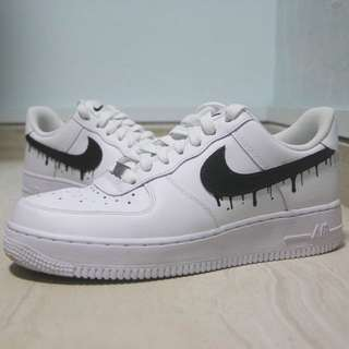 Air Force 1 One Low Customs Dripping Swoosh