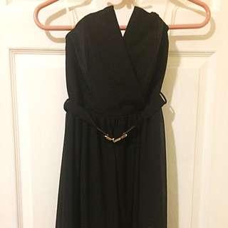 Black Dress- Size Small (with Waist Belt)