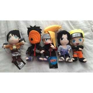 Naruto & AOT Plushies
