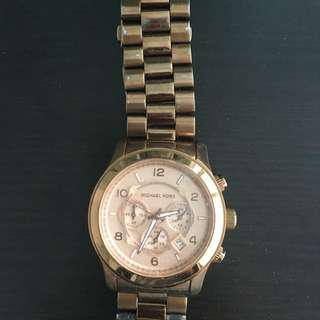 Large Rose Gold Michael Kors Watch