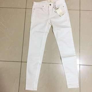 New Zara White Denim Pants