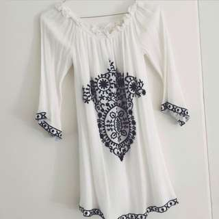 Off The Shoulder Gypsy Style Dress