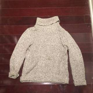 Grey Turtleneck Sweater from M