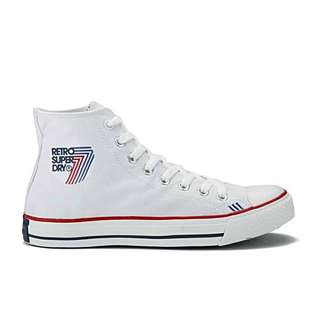 Superdry Retro White Canvass Shoes