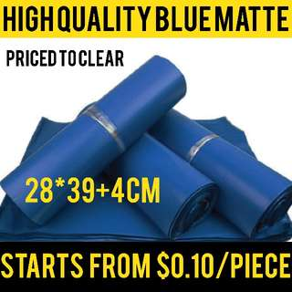 (Assorted quantity) BLUE Matte Polymailer poly mailers envelope courier bag wholesale 28x42