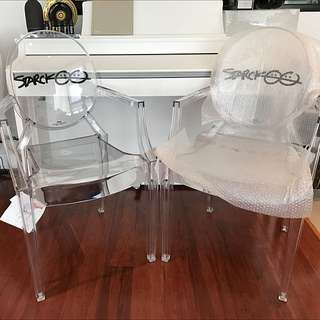 2*New Authentic Kartell Louis Ghost Chair - Special Edition for $550
