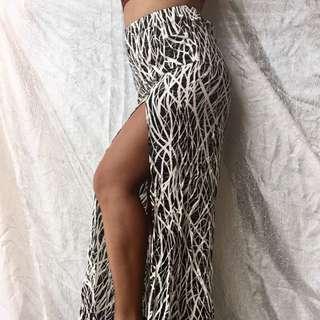 Monochrome Maxi Skirt - 6