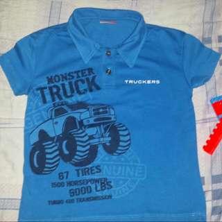 Truckers Blue Polo Shirt