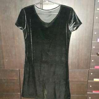 Silky Black Dress (S-M)