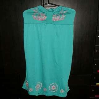 Flowery Green Dress (S-M)
