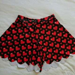 Blackmilk Clothing Love Ya Bits Shorties M