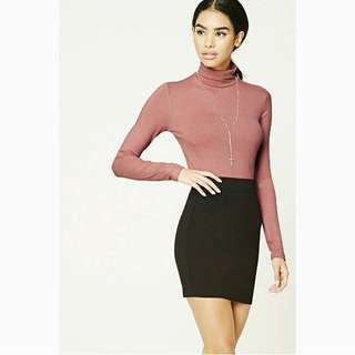 Forever21 Heatered High Neck Top