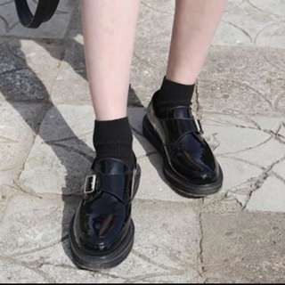 韓版復古皮鞋