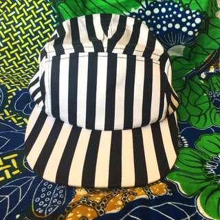 NEW Striped 5 Panel Hat