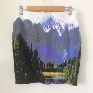 Mountain Pencil Skirt