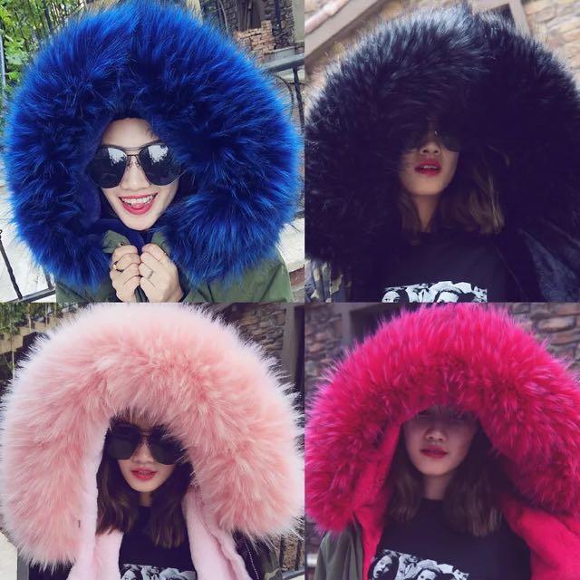 16色!! 超值韓國大毛領兩穿式外套 大尺碼 情侶款