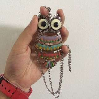 aztec owl necklace / kalung