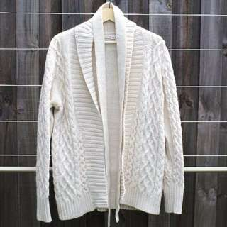 H&M Wool Blend Beige Cardigan