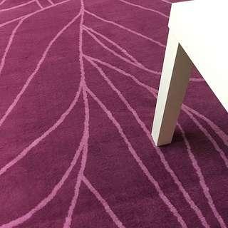 Ikea紫色地毯