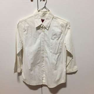 LEVIS button Down Collared White Shirt