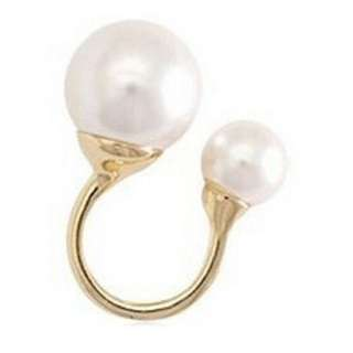 Double Pearl Golden Ring