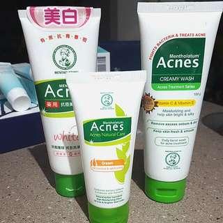 Mentholatum Acnes Facewash & Cream