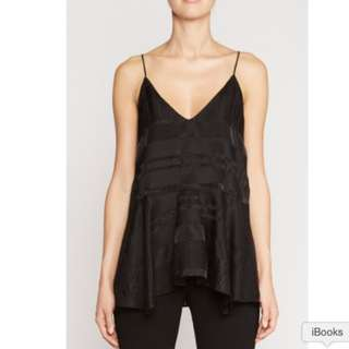 CAMILLA AND MARC BLACK THE SUN CAMI TOP AU 8 RRP $320[22% OFF]