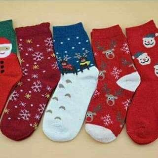 (現貨編號1、2、4)女大人冬款襪子五入組