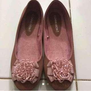 pink salem flatshoe