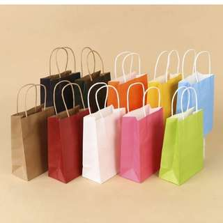 Paper Party Bags ( Assorted Colors ) [ Party Celebration ]