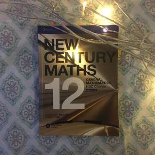 NEW CENTURY MATHS 12 General Mathematics HSC Course