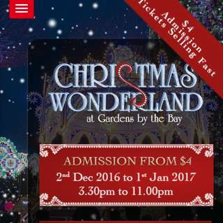 One Entrance Ticket To Christmas Wonderland