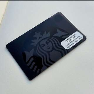 Rare Singapore Starbucks Black Siren Card