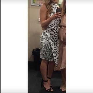 BLESSED AS THE MEEK Zebra Dress