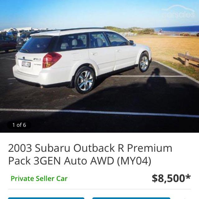 2003 Subaru Outback R Premium Pack 3GEN Auto AWD (MY04)