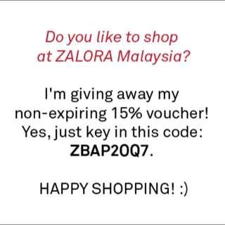 NON-EXPIRING 15% ZALORA VOUCHER