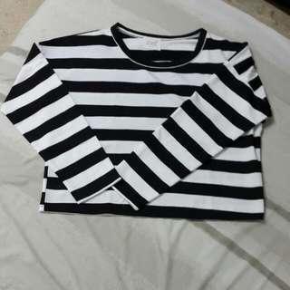 Crop Stripes Sweater