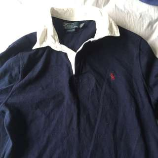 Real Ralph Lauren Rugby Jumper Navy SIZE MEDIUM