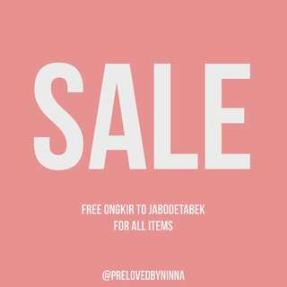 SALE ALL ITEMS