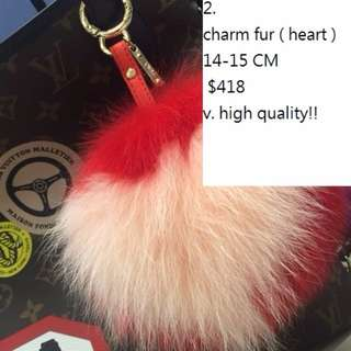 Charm fur no brand fendi LV hermes chanel strap you twilly kelly birkin garden party