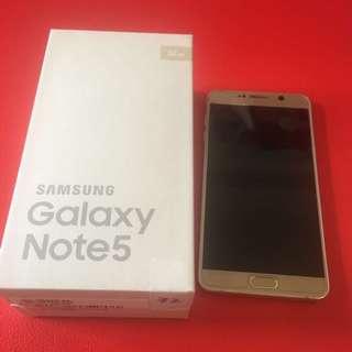 三星Note5 32g 手機12月剛過保誠可議價