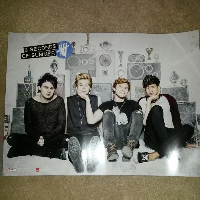 Hunger Games & 5 Seconds Of Summer Poster