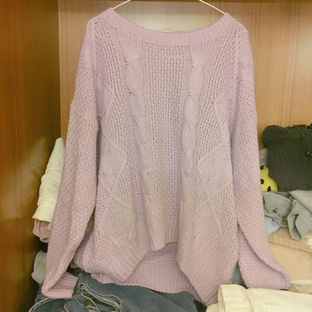 紫色針織💜
