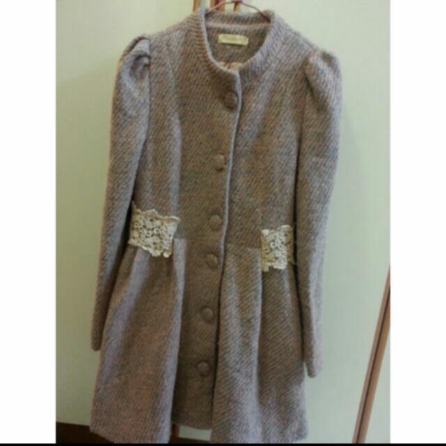 韓版洋裝大衣
