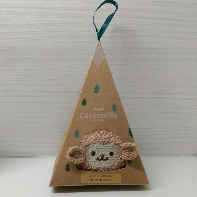 聖誕禮物交換🎄小猴珊瑚絨襪
