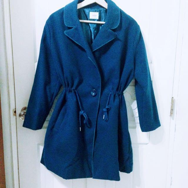 復古藍綠外套